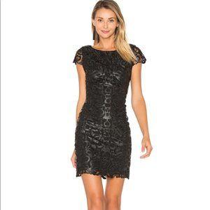 Alice+Olivia Penni faux leather dress